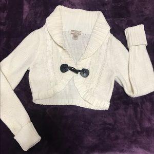 ARIZONA Cropped Long- Sleeve Sweater